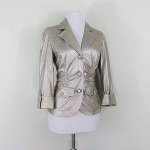 Joseph Ribkoff Silver Tan Jacket Blazer 4 Small S